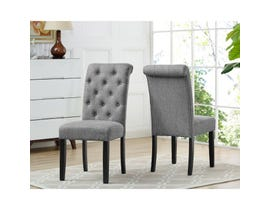 Brassex Tinga Side Chair Grey (Set of 2) 638-22-GR