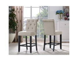 Brassex Tinga 24-inch Bar stool Beige 638-24-BE (SET OF 2)