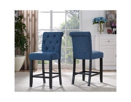 Brassex Tinga 24-inch Bar stool Blue 638-24-BL (SET OF 2)