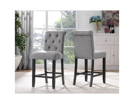 Brassex Tinga 24-inch Bar stool Grey 638-24-GR (SET OF 2)