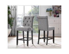 Brassex Tinga 24-inch Bar stool Grey 638-24-GR (SET OF 2)
