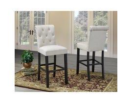 Brassex Tinga 24-inch Bar stool Beige (Set of 2) 638-29-BE