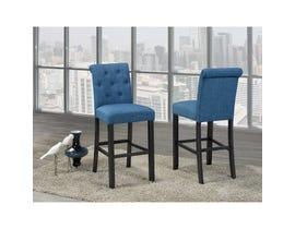 Brassex Tinga 24-inch Bar stool Blue (Set of 2) 638-29-BL