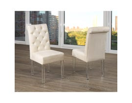 Brassex Florence Velvet Side Chair Beige (Set of 2) 638A-22BE