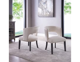 Brassex Isabella Dining/Accent Chair (Set of 2) in Beige 6390-22BEI