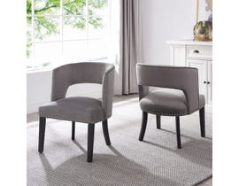 Brassex Isabella Dining/Accent Chair (Set of 2) in Grey 6390-22GY