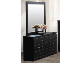 Modern Furniture MDF Dresser in Black 6400