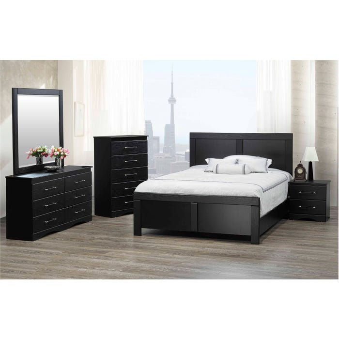 Peachy Modern Furniture Mdf 6 Piece Queen Bedroom Set In Black 6400 Complete Home Design Collection Epsylindsey Bellcom