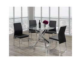 Brassex Meredith 5-piece Dining Set Chrome F-647-SET