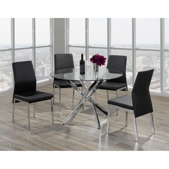 Brassex Meredith Dining Table Chrome F-647 (table)