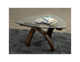Brassex Teagan glass table top Coffee Table with Espresso legs 648-02