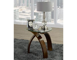 Brassex Teagan glass End Table in Espresso brown 648-06