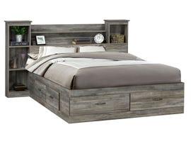 Modern Furniture Engineered Wood Bed in Suede Grey 6730