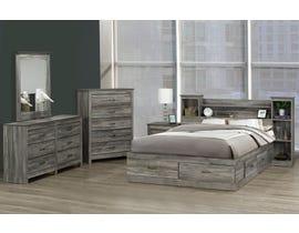 Modern Furniture Engineered Wood 6 Pc Bedroom Set in Suede Grey 6730