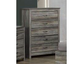 Modern Furniture Engineered Wood Chest in Suede Grey 6730