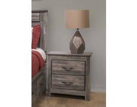 Modern Furniture Engineered Wood Nightstand in Suede Grey 6730