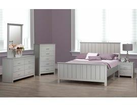 Modern Furniture Full Bedroom Set in Silver 6760
