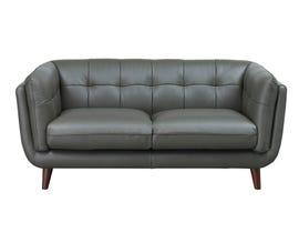 Amax Seymour Series Leather Loveseat in Slate Grey 6766