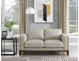 Amax Avon Series Leather Loveseat in Ice Leather 6807