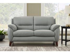 Amax Monroe Series Leather Loveseat in Silver Grey 6282U-1