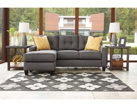 Signature Design by Ashley Aldie Nuvella Collection Sofa Chaise in grey 6870218