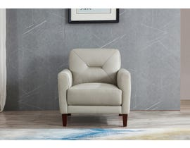 Amax Clooney Series Leather Chair in Ice 6900U