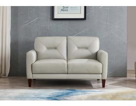 Amax Clooney Series Leather Match Loveseat in Ice 6900U