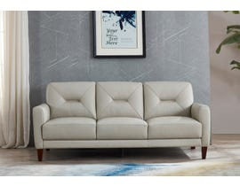 Amax Clooney Series Leather Sofa in Ice 6900U