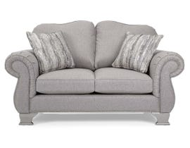Decor-Rest Fabric Loveseat in Grey 6933