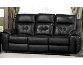 Addison Collection Power Reclining Sofa in Black 6991