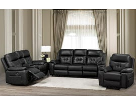 Brassex Addison Series 3-Piece Power Reclining Set in Black 6991