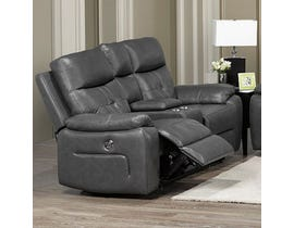 Addison Collection Power Reclining Loveseat in Grey 6991