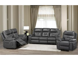 Brassex Addison Series 3-Piece Power Reclining Set in Grey 6991
