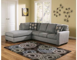 Signature Design by Ashley Zella Series LAF Corner Chaise Sectional in Charcoal 70200