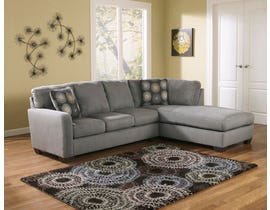 Signature Design by Ashley Zella Series RAF Corner Chaise Sectional in Charcoal 70200