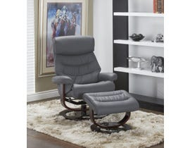 Chateau Imports Reclining Chair and Matching Ottoman Set in Dark Grey 70308REC-DGR