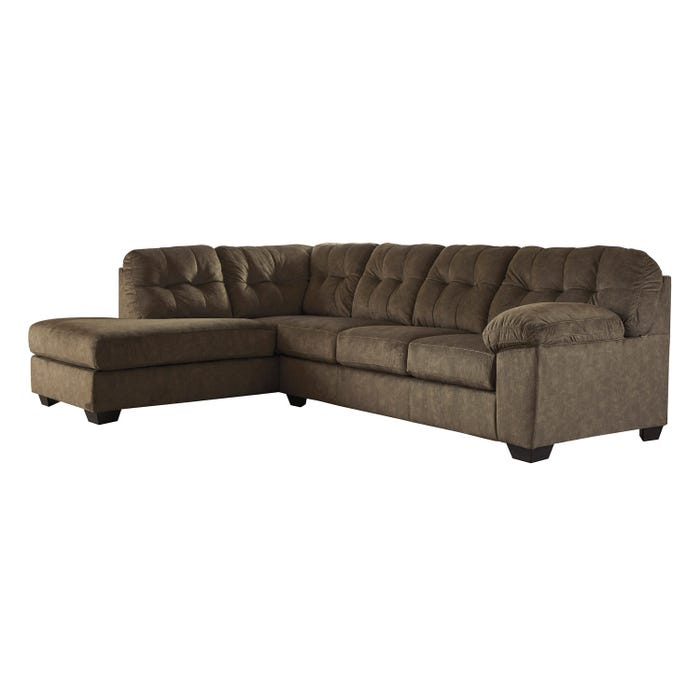 Signature Design by Ashley 2-Piece Sectional in earth brown 70508S