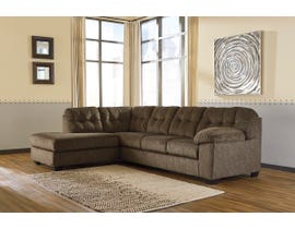 Signature Design by Ashley Accrington Series LAF Corner Chaise Sectional in Earth 70508