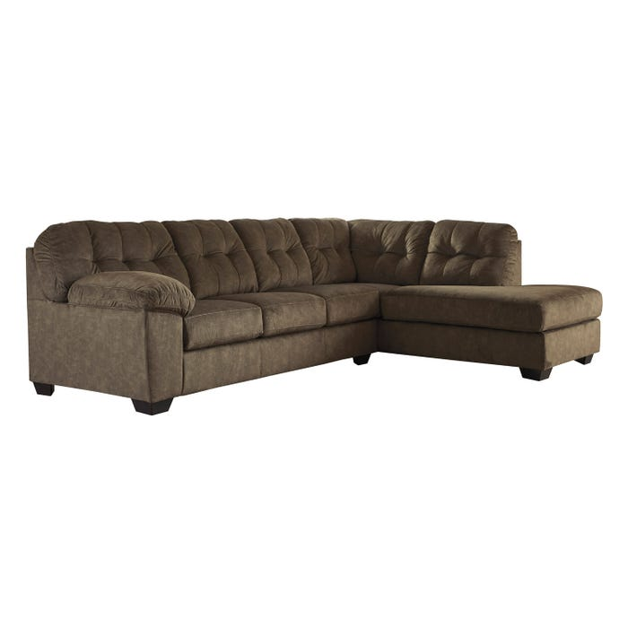 Signature Design by Ashley 2-Piece Sectional in earth brown 70508S3