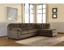 Signature Design by Ashley Accrington Series RAF Corner Chaise Sectional in Earth 70508
