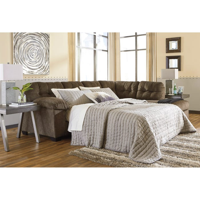 Signature Design by Ashley 2-Piece Sectional in earth brown 70508S4