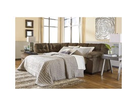 Signature Design by Ashley 2-Piece Sectional with Chaise and Sleeper in Earth 70508S2