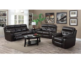 Sofa By Fancy Laura Collection Leather Match Power Motion Recliner in Dark Chocolate 7070