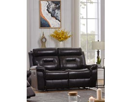 K-Living Marvel High Grade Leather with PVC Match Recliner Love Seat in Chocolate Brown 7123