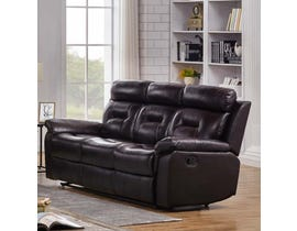K-Living Marvel High Grade Leather with PVC Match Recliner Sofa in Chocolate Brown 7123