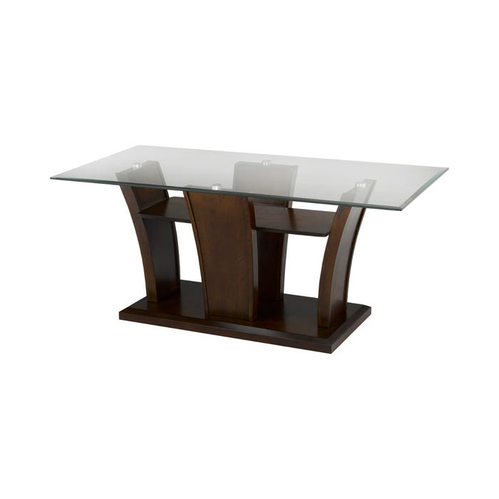 Brassex Ambrose wood and glass Coffee Table in Espresso brown 1919017