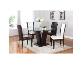 Brassex Ambrose 5-piece Dining Set Espresso 7154-54-SET