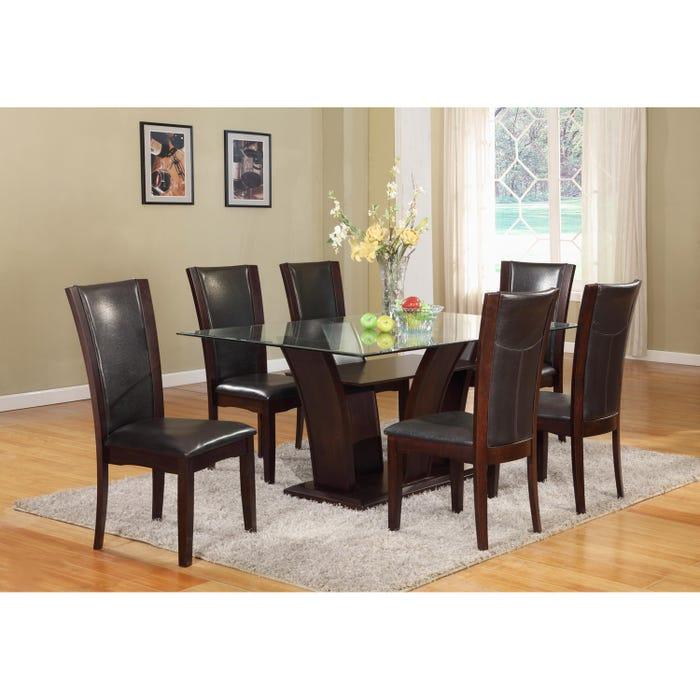 Brassex Ambrose Rectangular Dining Table Espresso 7154-72 (Table)