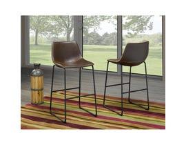 Brassex Acasia Vintage Brown 29-inch Bar Chair HY-7163-BR (set of 2)