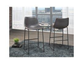 Brassex Acasia Vintage Grey 29-inch Bar Chair HY-7163-GR (set of 2)